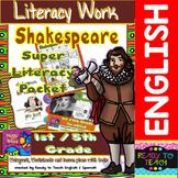 Shakespeare Super Literacy Packet for Elementary Level