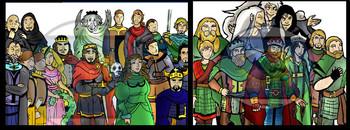Shakespeare TRAGEDY Clip-Art BUNDLE!  Othello, Romeo/Juliet, Hamlet, Macbeth!