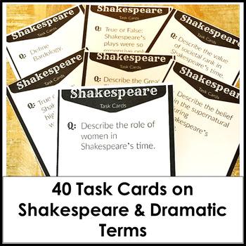 Shakespeare Task Cards