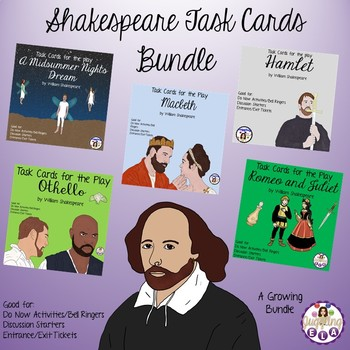Shakespeare Task Cards Bundle (A Growing Bundle)