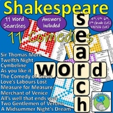Shakespeare - The Comedy Plays - 11 wordsearches for character names BUNDLE