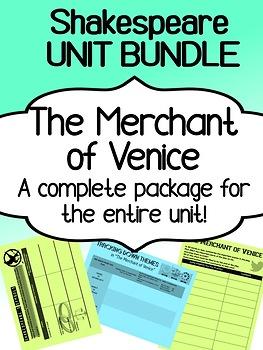 Shakespeare - The Merchant of Venice - UNIT BUNDLE - Complete unit