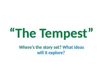 "Shakespeare ""The Tempest"" prediction pre-reading noun phrases adverbials writing"