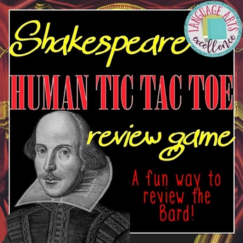 Shakespeare Human Tic Tac Toe Review Game