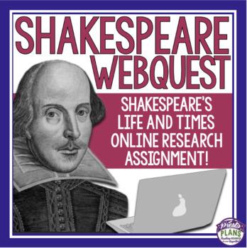 SHAKESPEARE BIOGRAPHY WEBQUEST