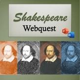 Shakespeare Webquest w/ PowerPoint - Distance Learning