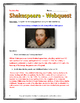 Shakespeare - Webquest with Key (His life and legacy)