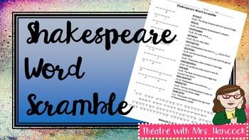 Shakespeare Word Scramble
