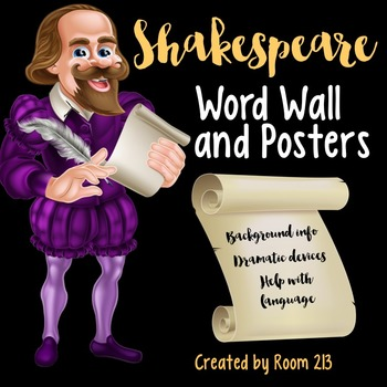 Shakespeare Word Wall and Posters