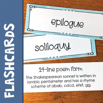 Shakespeare Vocabulary Word Wall