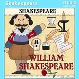 Shakespeare  World History Dramatic Arts Color Clip Art  C. Seslar