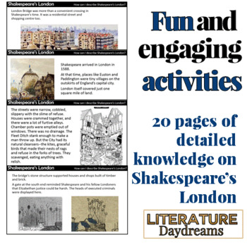 Shakespeare and London Factual information and descriptive writing