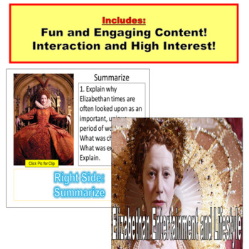 Shakespeare and the Elizabethan Period: PowerPoint