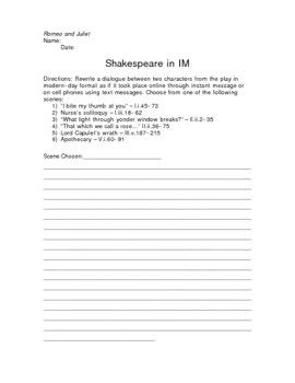 Shakespeare in IM