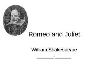 Shakespeare, including Romeo and Juliet PPP