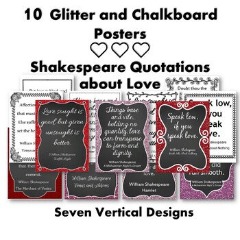 Shakespeare on Love {20 Posters}