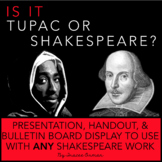 Shakespeare or Tupac Interactive Bulletin Board and Antici