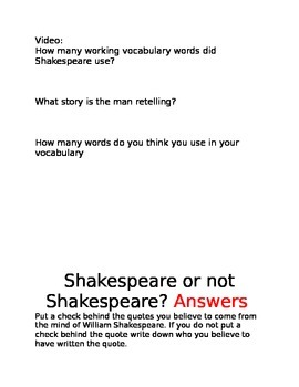 Shakespeare or not
