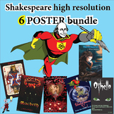 Shakespeare poster bundle- captivating classroom decor -33% off!