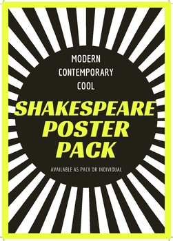 Shakespeare poster bundle - All 10 cool, modern designs