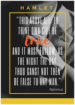 Shakespeare quote poster - Hamlet