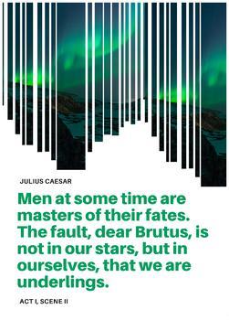 Shakespeare quote poster - Julius Caesar