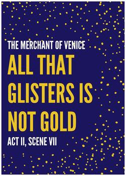 Shakespeare quote poster - The Merchant of Venice