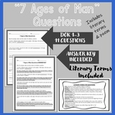 """Shakespeare's """"7 Ages of Man"""" Questions"""