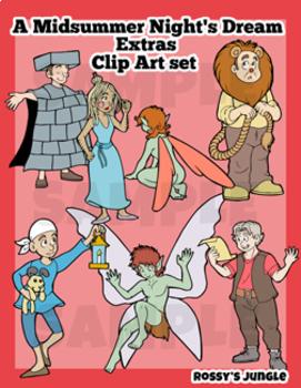 Shakespeare's A Midsummer Night's Dream -EXTRAS clip art set