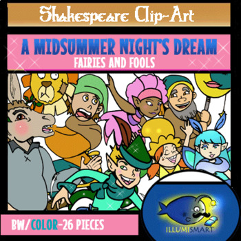 """Shakespeare's """"A Midsummer Night's Dream"""" Set 1: """"Fairies and Fools"""""""