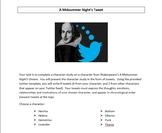 Shakespeare's A Midsummer Night's Tweet