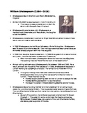 Shakespeare's Biography Guided Notes