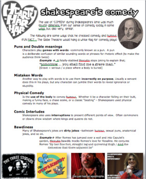 English - Shakespeare's Comedy / Stock Characters