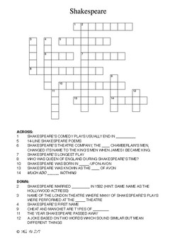 Shakespeare's Crossword