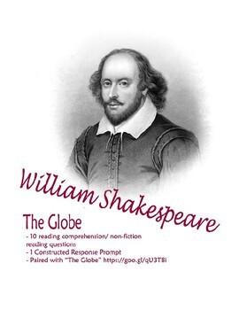 Shakespeare's Globe: Reading Comprehension (Romeo & Juliet Pair)