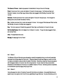 Shakespeare's Henry V Lesson Plan