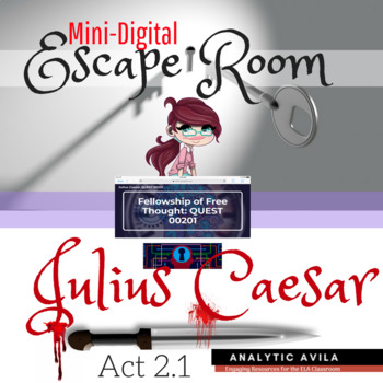 Shakespeare's Julius Caesar Act 2, scene 1: Digital Breakout Escape Game
