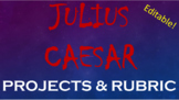 FREEBIE! Shakespeare's Julius Caesar Project Choices - Pri