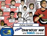 "Shakespeare's ""Julius Caesar"" Visual Character Map (With B"