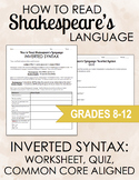 Shakespeare's Language: Inverted Syntax