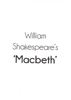 Shakespeare's Macbeth Unit of Work