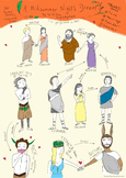 Shakespeare's Midsummer Night's Dream - COLOUR Character Map