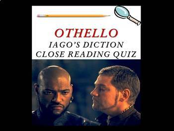 Othello by William Shakespeare - Iago's Diction Quiz
