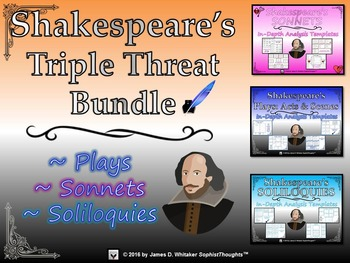 Shakespeare's Plays, Soliloquies, and Sonnets Triple Threa
