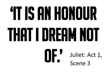 Shakespeare's Romeo and Juliet A3 Quotation Posters
