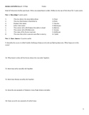 Shakespeare's Romeo and Juliet Acts 3 - 5 Test