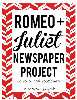 Shakespeare's Romeo and Juliet Newspaper Project Assessment