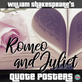 Shakespeare's Romeo and Juliet Quote Posters