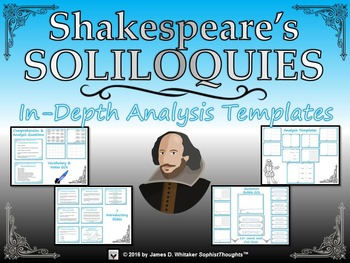 Shakespeare's Soliloquies Analysis Templates and Graphic O