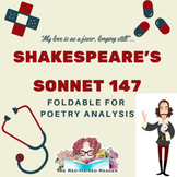 Shakespeare's Sonnet 147 Foldable for Poetry Analysis